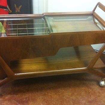 Italian Mid Century Bar Cart Mystery Item