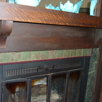 entire fireplace - Art Pottery