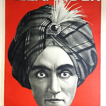 "Original 1920 ""Alexander The Man Who Knows"" Stone Lithograph Poster - Posters and Prints"