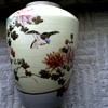 "Little Meiji Era""32"" Porcelain Jar / Vase Hand Painted Birds and Flowers with Gold Details / Circa  1868-1912"