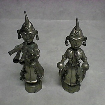 TWO METAL FIGURINES