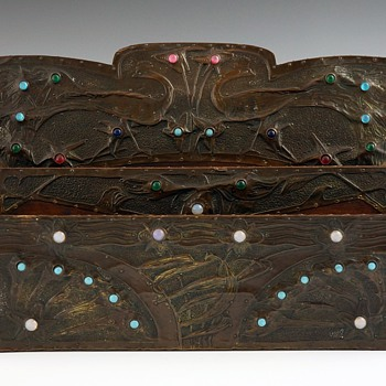 1898-1900 Alfred Daguet / S. Bing Mixed Materials Letter Holder - Art Nouveau