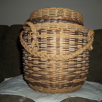 Native American  Penobscot String Basket
