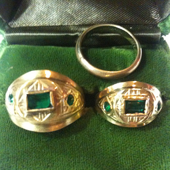 Old  matching Wedding Rings 1860's