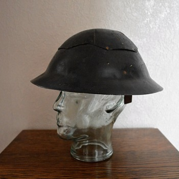 British WWII Civil Defence fibre and steel helmet - Military and Wartime