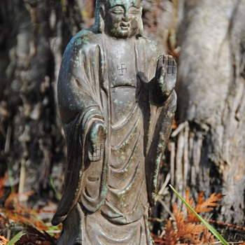 Ancient Chinese Nephrite Jade Buddha - Asian