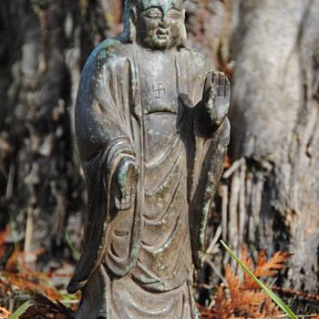 Ancient Chinese Nephrite Jade Buddha