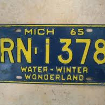 Vintage Michigan liscense plates.....