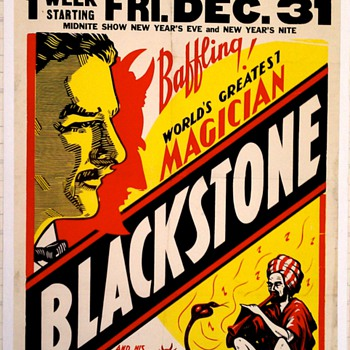 Original 1943 &quot;Blackstone&quot; Offset Lithograph Poster