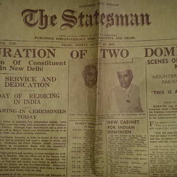 Indian independence Day rare and original newspaper complete pages - Paper