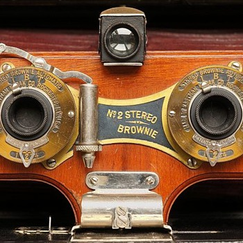 Stereo Brownie Shutter, 1905. (the beauty of early camera shutters #7) - Cameras