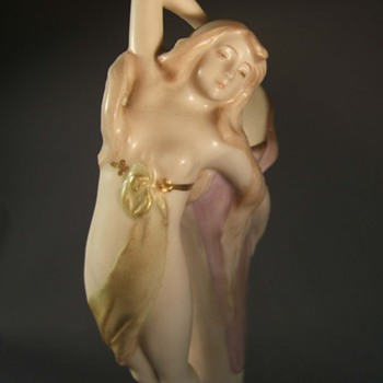 Figural Vase by Ernst Wahliss - Art Pottery