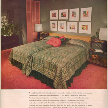 1950 Monument Bedspreads Advertisement - Advertising