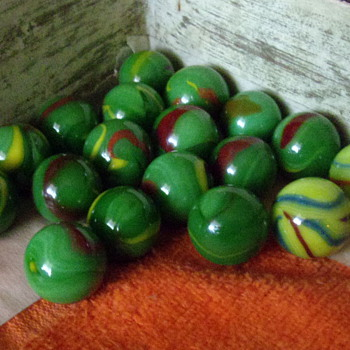 Vintage Assorted Marbles - Art Glass