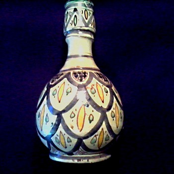 Interesting Middle Eastern Pottery Vase (Iznik ?)/Signed /Unknown Age