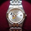 DISNEY MICKEY WITTNAUER DIAMOND WATCH W/GREAT BOX