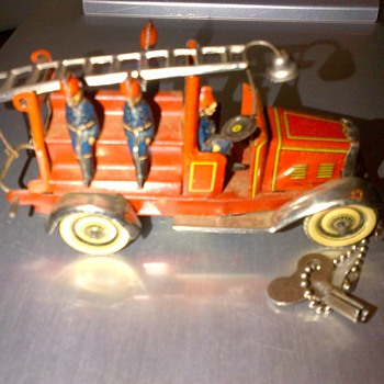 1940's Wind up fire engine - Toys