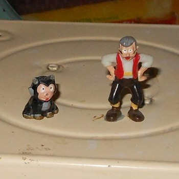 Geppetto and Figaro Disneykins Early 1960s
