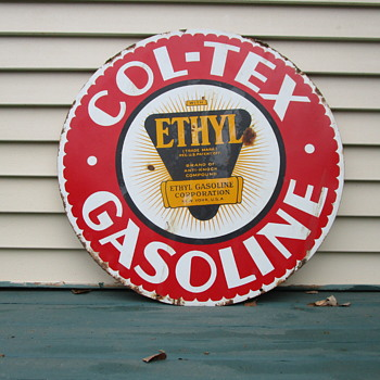 "Col-Tex 30"" Gasoline Sign"