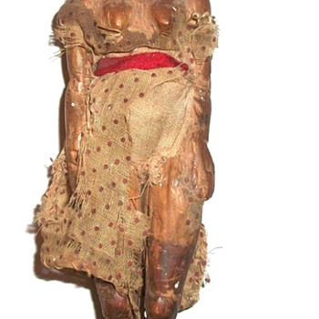 Early Carved Folk Art Wooden Doll Collection Jim Linderman