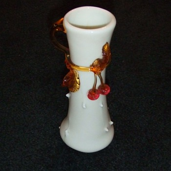 My first Stevens and Williams Applied Cherries Vase - Art Glass