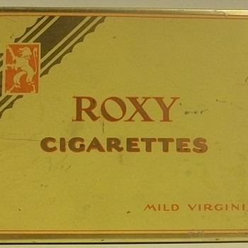 """Flat Fifties""  Cigarette Tins"