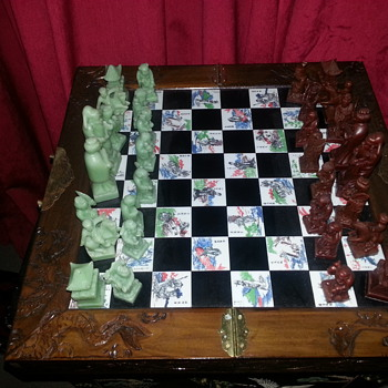 Chinese Chess set.Bought in Hong Kong 70's