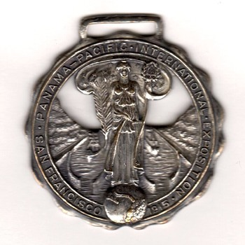1915 Panama-Pacific International Exposition Official Souvenir Fob