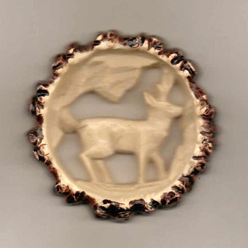1940's - Plastic Deer Pin - Germany