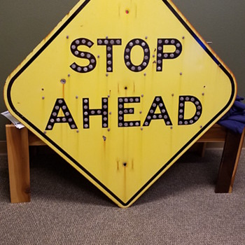 Calif. Division of Highways Stop Ahead Sign