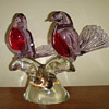 Signed Livio Seguso Murano Glass Love birds sculpture