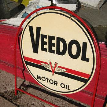 1940's or 50's Veedol sign - Signs