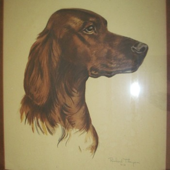 Irish Setter Watercolor by Richard Thompson