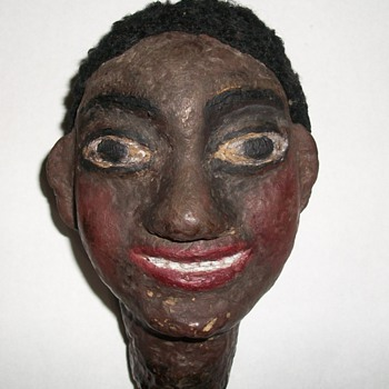 Puppet or Doll Head African-American Man Folk Art Collection Jim Linderman