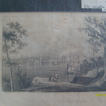 Original Steel Plate Print. NY 1834