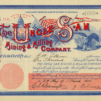 It&#039;s Tax Time!  One of my favorite Cripple Creek stock certificates. - US Paper Money
