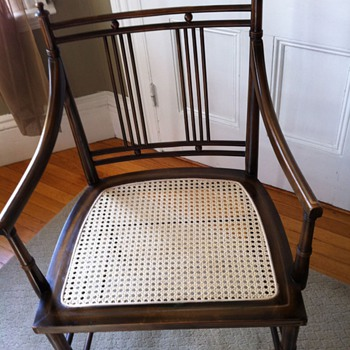 Antique Maple Rocker  Unusual Asian style side chair
