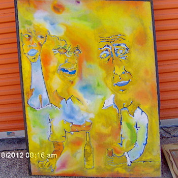 Very Large Abscract Painting,Signed