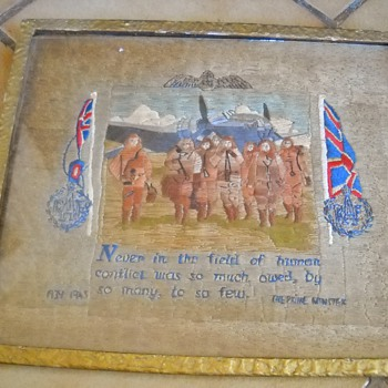 WWII Royal Air  Force Embroidery Prime Minister Churchill Quote