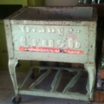 Rare Orange Crush Ice Chest - Advertising