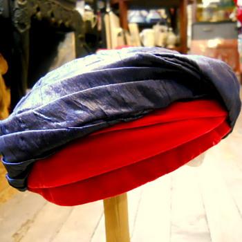 Hattie Carnegie Silk Dupioni Hat ... 50s - Hats