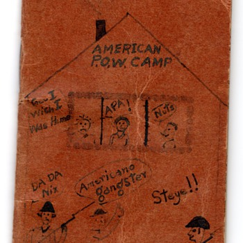 WWII P.O.W. Diary &quot;Bugs &amp; Bombs&quot; by my Father - Military and Wartime