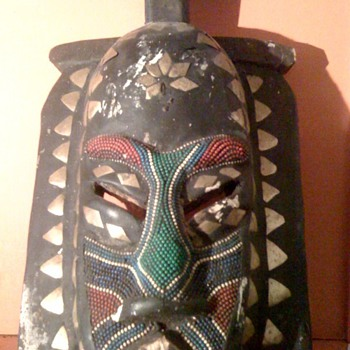 Mask made in Ghana - Folk Art
