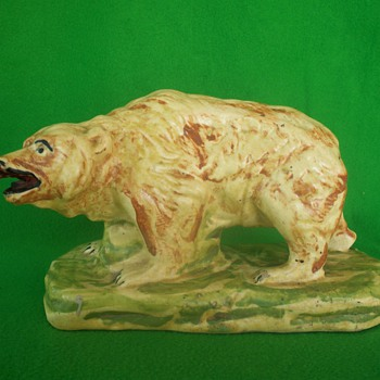 rare fat thorne bear - Art Pottery