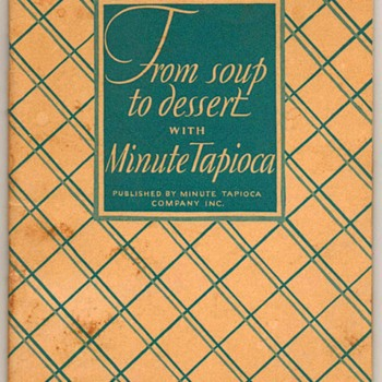 "1928 - ""Minute Tapioca"" Recipes Book - Books"
