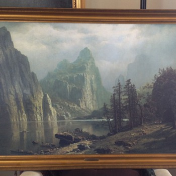 Albert Bierstadt Merced River, Yosmite Valley,  On Canvas