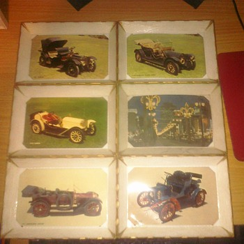 6 Plastic trays with post cards inside. - Postcards