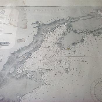 Hydrographic Chart Louisburg Harbor - Paper