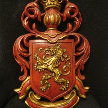 Dated Red & Gold Lowenbrau Lion Beer Sign - Breweriana