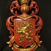 Dated Red &amp; Gold Lowenbrau Lion Beer Sign